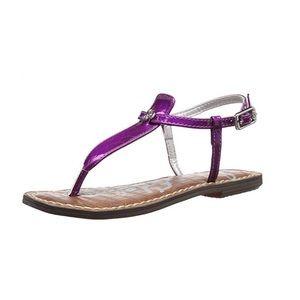 Sam Edelman purple t-strap sandal